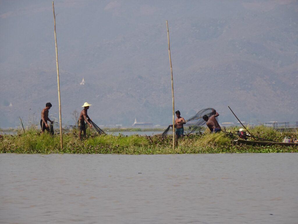 インレー湖 ツアー 漁師