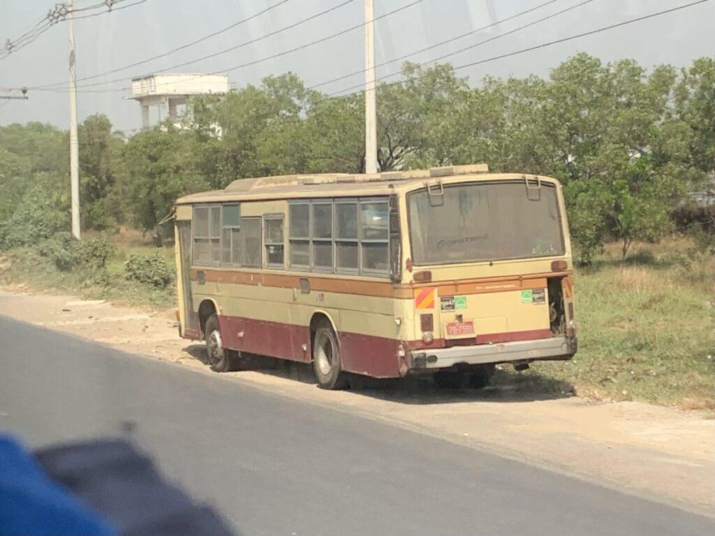 ミャンマー 神奈中バス