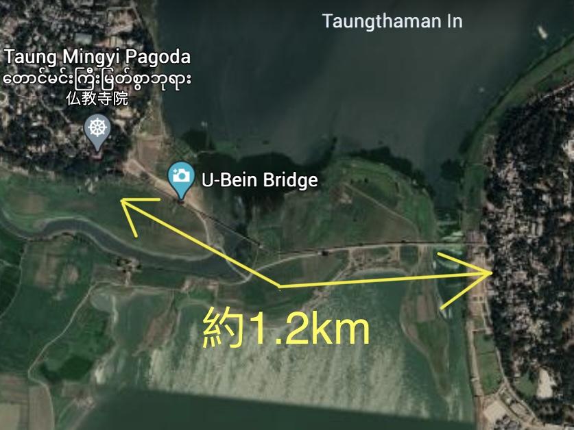 ウーベイン橋 アマラプラ マンダレー U Bein Bridge