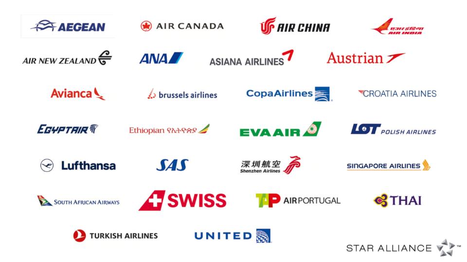 スターアライアンス 加盟航空会社